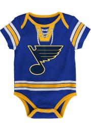 St Louis Blues Baby Blue Hockey Pro Short Sleeve One Piece