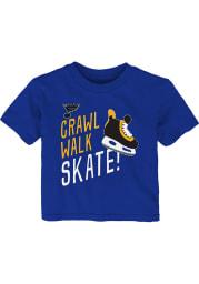 St Louis Blues Infant The Zamboni Short Sleeve T-Shirt Blue