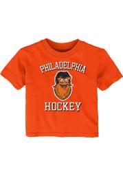 Gritty Philadelphia Flyers Infant Hello Mascot Short Sleeve T-Shirt Orange
