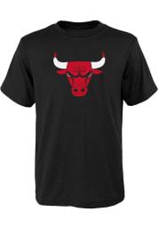 Chicago Bulls Youth Black Primary Logo Short Sleeve T-Shirt