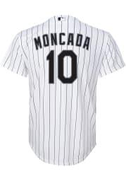 Yoan Moncada Nike Chicago White Sox Youth White Home Jersey