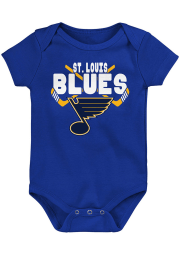 St Louis Blues Baby Blue Crossed in Front Short Sleeve One Piece