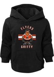 Gritty Outer Stuff Philadelphia Flyers Toddler Black Gritty Life Long Sleeve Hooded Sweatshirt