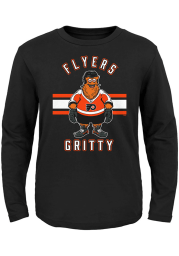 Gritty Outer Stuff Philadelphia Flyers Toddler Black Gritty Life Long Sleeve T-Shirt