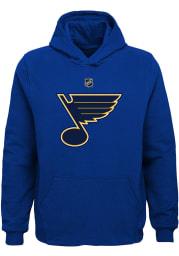 St Louis Blues Boys Blue Primary Logo Long Sleeve Hooded Sweatshirt