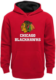 Chicago Blackhawks Youth Red Prime Long Sleeve Hoodie