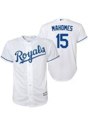 Patrick Mahomes Outer Stuff Kansas City Royals Youth White Alt Replica Jersey
