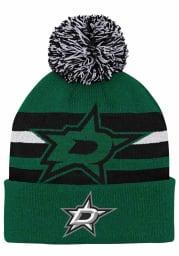 Dallas Stars Green Heritage Cuff Youth Knit Hat