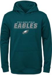 Philadelphia Eagles Youth Midnight Green Static Long Sleeve Hoodie