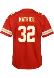 Tyrann Mathieu Kansas City Chiefs Youth Red Nike Super Bowl LV Patch Football Jersey