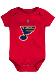 St Louis Blues Baby Red Short Sleeve One Piece
