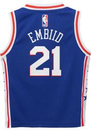 Joel Embiid Nike Philadelphia 76ers Boys Blue Icon Replica Basketball Jersey