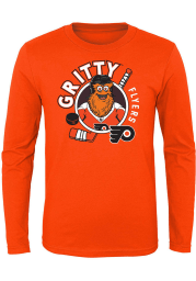 Gritty Outer Stuff Philadelphia Flyers Toddler Orange Gritty Ready to Play Long Sleeve T-Shirt