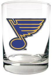 St Louis Blues 14oz Emblem Rock Glass