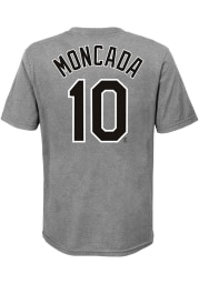 Yoan Moncada Chicago White Sox Youth Grey City Name and Number Player Tee