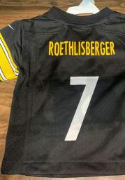 Ben Roethlisberger Pittsburgh Steelers Boys Black Nike Alt Game Day Football Jersey