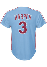 Bryce Harper Philadelphia Phillies Boys Light Blue Cooperstown Replica Baseball Jersey