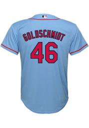 Paul Goldschmidt St Louis Cardinals Boys Light Blue Alternate 3 Baseball Jersey