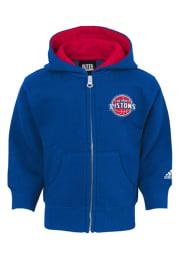 Detroit Pistons Toddler Prime Long Sleeve Full Zip Sweatshirt - Blue