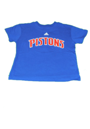 Detroit Pistons Boys Blue Rally Loud Short Sleeve T-Shirt