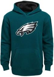 Philadelphia Eagles Youth Midnight Green Prime Long Sleeve Hoodie