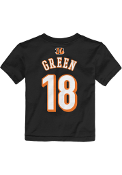 AJ Green Cincinnati Bengals Toddler Black Player Short Sleeve Player T Shirt