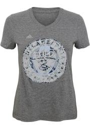 Philadelphia Union Girls Grey Pearl Logo Short Sleeve Fashion T-Shirt