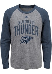 Oklahoma City Thunder Youth Navy Blue Pedigree Long Sleeve Fashion T-Shirt