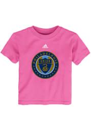 Philadelphia Union Toddler Girls Pink Primary Logo Short Sleeve T-Shirt
