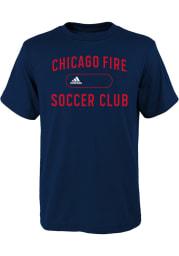 Chicago Fire Youth Navy Blue Marathon Short Sleeve T-Shirt