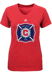 Chicago Fire Girls Red Primary Logo Short Sleeve Tee