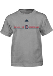 Chicago Fire Boys Grey Primary Short Sleeve T-Shirt