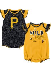 Pittsburgh Pirates Baby Black Team Sparkle Set One Piece
