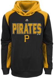 Pittsburgh Pirates Boys Black Geo Fuse Long Sleeve Hooded Sweatshirt