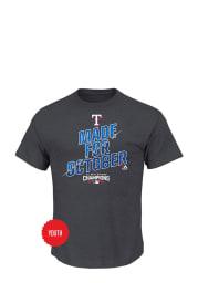Texas Rangers Youth Charcoal Locker Room Short Sleeve T-Shirt