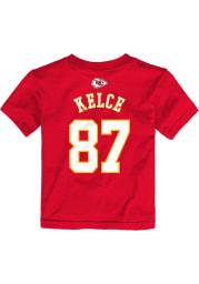 Travis Kelce Kansas City Chiefs Toddler Red Player Short Sleeve Player T Shirt