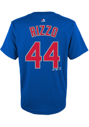 Anthony Rizzo Chicago Cubs Youth Blue Player Player Tee