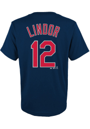 Francisco Lindor Cleveland Indians Youth Navy Blue Player Player Tee