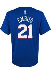 Joel Embiid Philadelphia 76ers Youth Blue Player Player Tee
