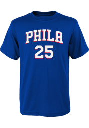 Ben Simmons Philadelphia 76ers Youth Blue Player Player Tee