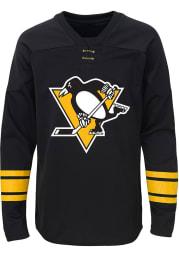 Pittsburgh Penguins Boys Black Shattered Ice Long Sleeve Crew Sweatshirt
