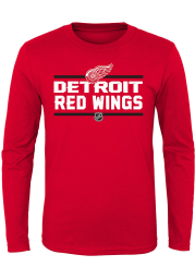 Detroit Red Wings Boys Red Epitome Long Sleeve T-Shirt