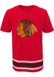 Chicago Blackhawks Youth Black Captain Short Sleeve T-Shirt