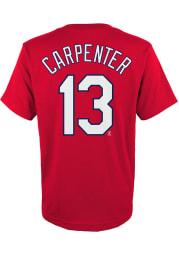 Matt Carpenter St Louis Cardinals Youth Red Player Player Tee