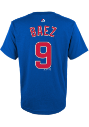 Javier Baez Chicago Cubs Youth Blue Player Player Tee