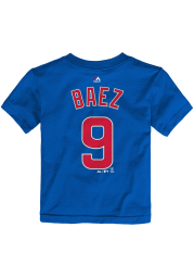 Javier Baez Chicago Cubs Toddler Blue Player Short Sleeve Player T Shirt