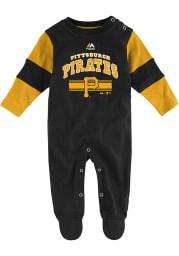 Pittsburgh Pirates Baby Black Team Believer Loungewear One Piece Pajamas