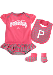 Pittsburgh Pirates Baby Pink Pennant Set One Piece