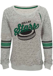 Dallas Stars Girls Grey Lucky Puck Long Sleeve Sweatshirt