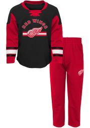 Detroit Red Wings Toddler Red Rink Rat Set Top and Bottom